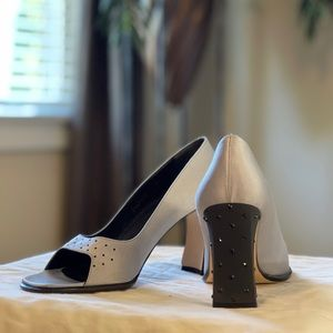 Studio Delman shoes with crystals on top and heels